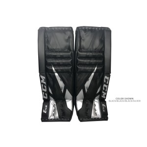 CCM-Extreme-Flex-E4.5-Junior-Goalie-Leg-Pads-Black-Silver