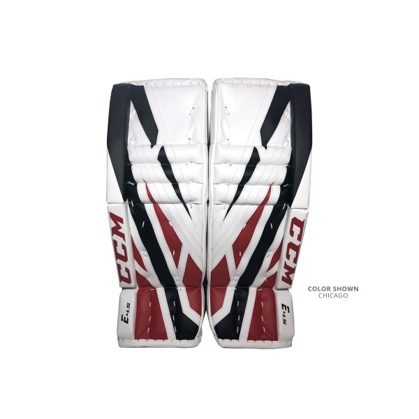 CCM-Extreme-Flex-E4.5-Junior-Goalie-Leg-Pads-Chicago